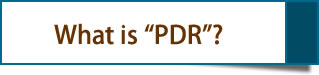 "What is ""PDR""?"