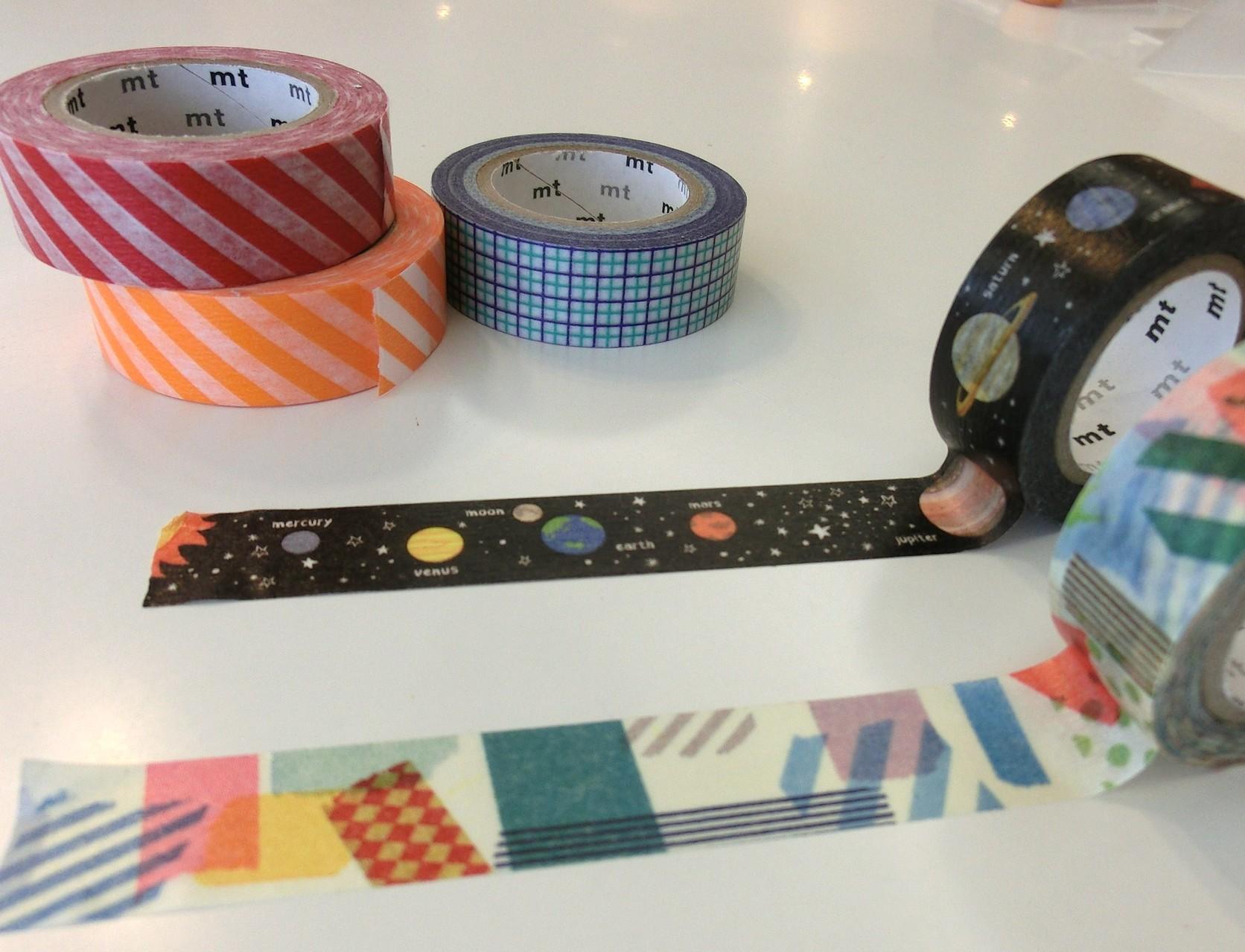 マスキングテープの追加♪ アルバムカフェには110本以上のマスキングテープをご用意しています
