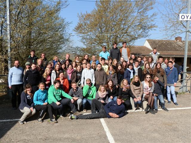 Die Taizé-Fahrer Gruppe 2012 - MRS-Niedermünster und das Goethe-Gymnasium.