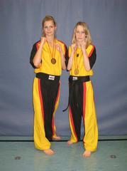 Franziska (Weltmeisterin) und Kerstin( Vizeweltmeisterin)