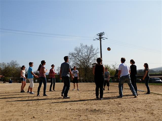 Nach einiger Zeit kamen aber auch die Goethe SchülerIinnen und alle hatten zusammen schöne Nachmittage.