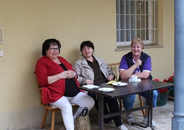 Unsere Reinigugsfrauen ganz entspannt.