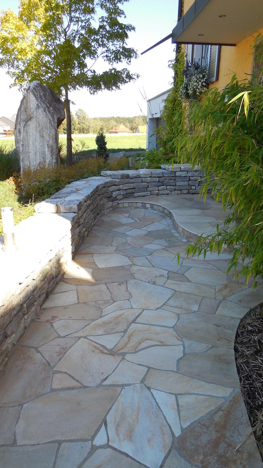 Eingangsbereich - Naturstein Polygonal