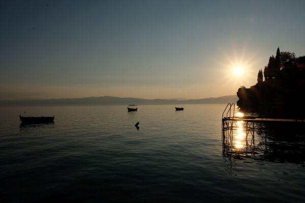 Sonnenuntergang am Ohrid ist ein unvergessliches Erlebnis