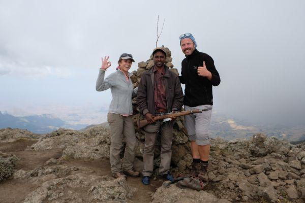 """Auf  der Spitze des """"Ras Bwahit"""" 4437 m"""