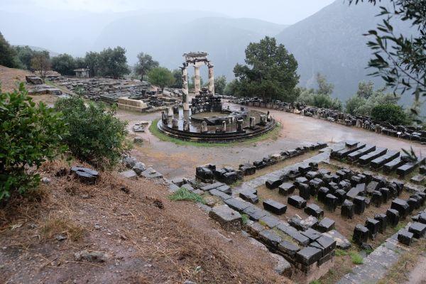 Wahrzeichen von Delphi - der Tholos