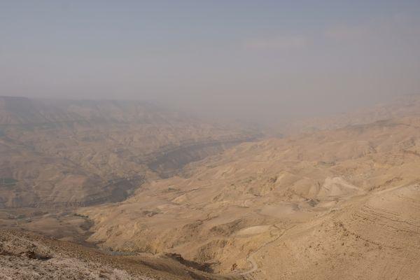 Wadi Mudjib - die weiteste Stelle des Canyon