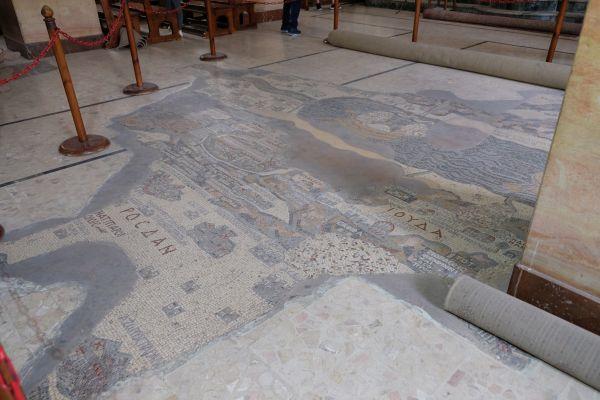 Mosaikkarte von Madaba - St - Georg - Kirche  (älteste erhaltene kartographische Darstellung des heiligen Landes, v.a. Jerusalems  )
