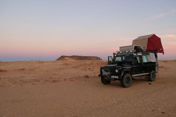 wild campen im Sudan ist Einsamkeit pur...die wüste für uns alleine :)