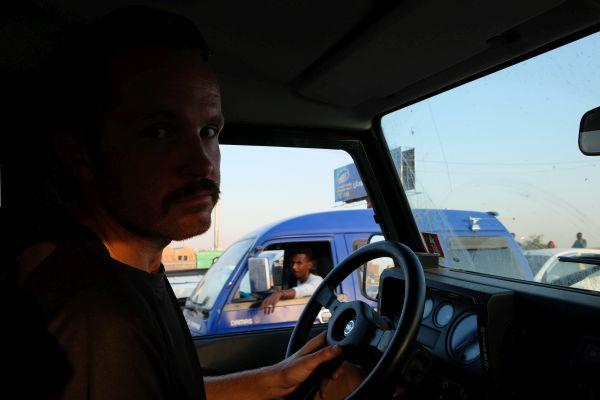 der schreckliche Verkehr in Khartoum