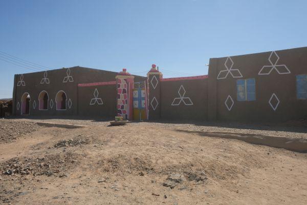 die Häuser der Nubier - indigene Völker, die vornehmlich im süden von Ägypten und im Norden des  Sudan leben