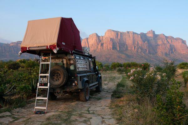 als Budgetreisender kann man auch in einer Lodge für umme campen ;)