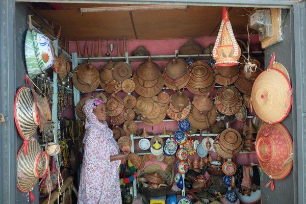 traditionelle Körbe - Harar ist für die Flechtkunst bekannt