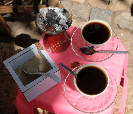 Mmm...der äthiopische Kaffe ist sehr lecker