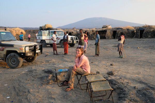 im Camp angekommen - Energie tanken für den Aufstieg auf den Vulkan