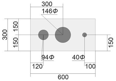 自作 スピーカーボックス 穴 Ф 直径