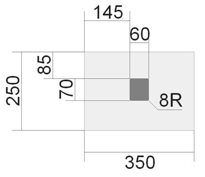 穴加工 平面図