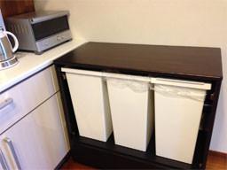 タモ集成材ゴミ箱収納ボックス