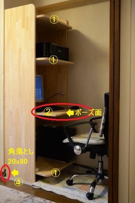 パソコンデスク説明写真
