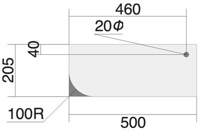 天板 平面図