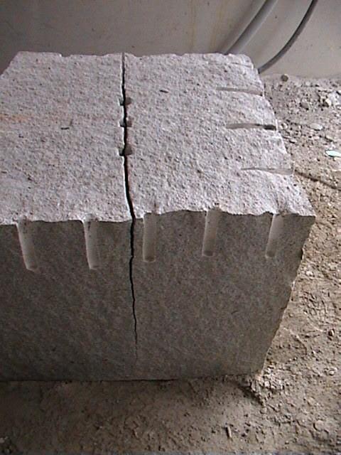 Lasberger Granitblock gespalten