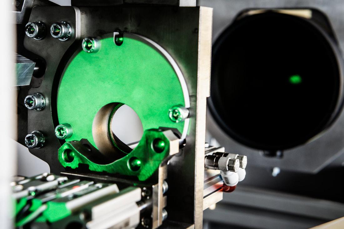 Mechanik mit Wechselplatte für verschiedene Ringdurchmesser