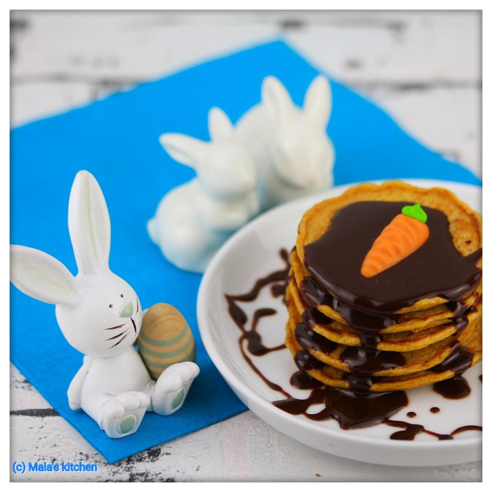 Karotten-Schoko-Pancakes