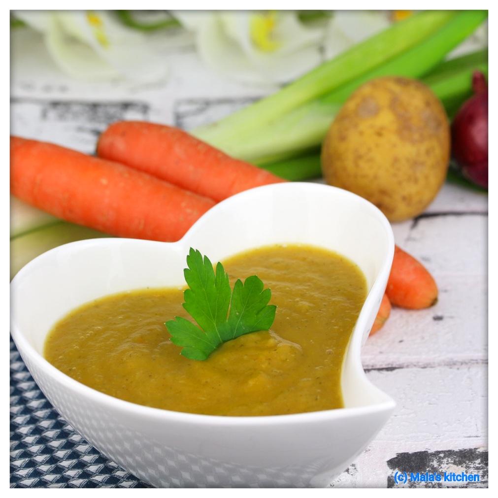 Gemüsecremesuppe
