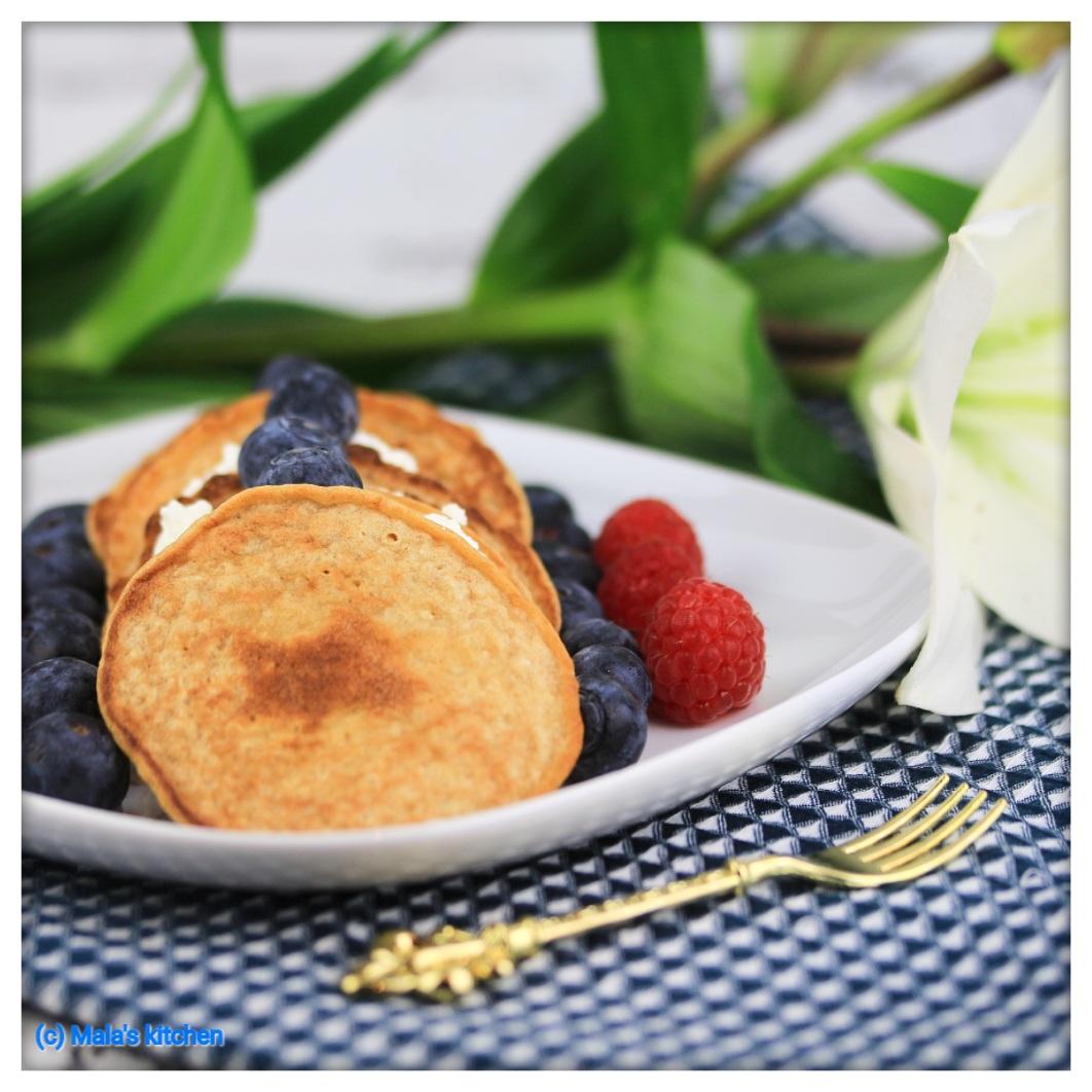 Haferflocken-Cottage Cheese-Pancakes