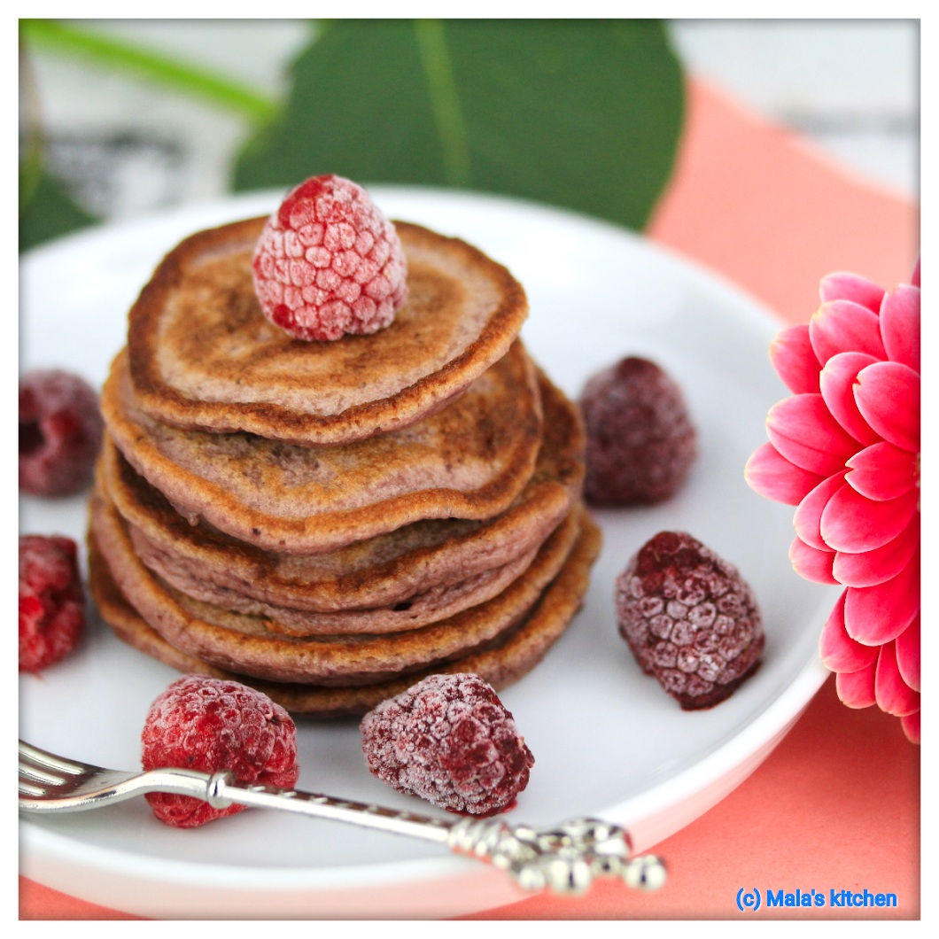 Himbeer-Buttermilch-Pancakes