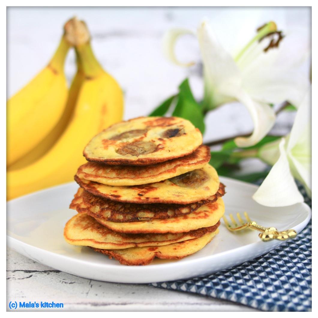 Banane Mandel Pancakes