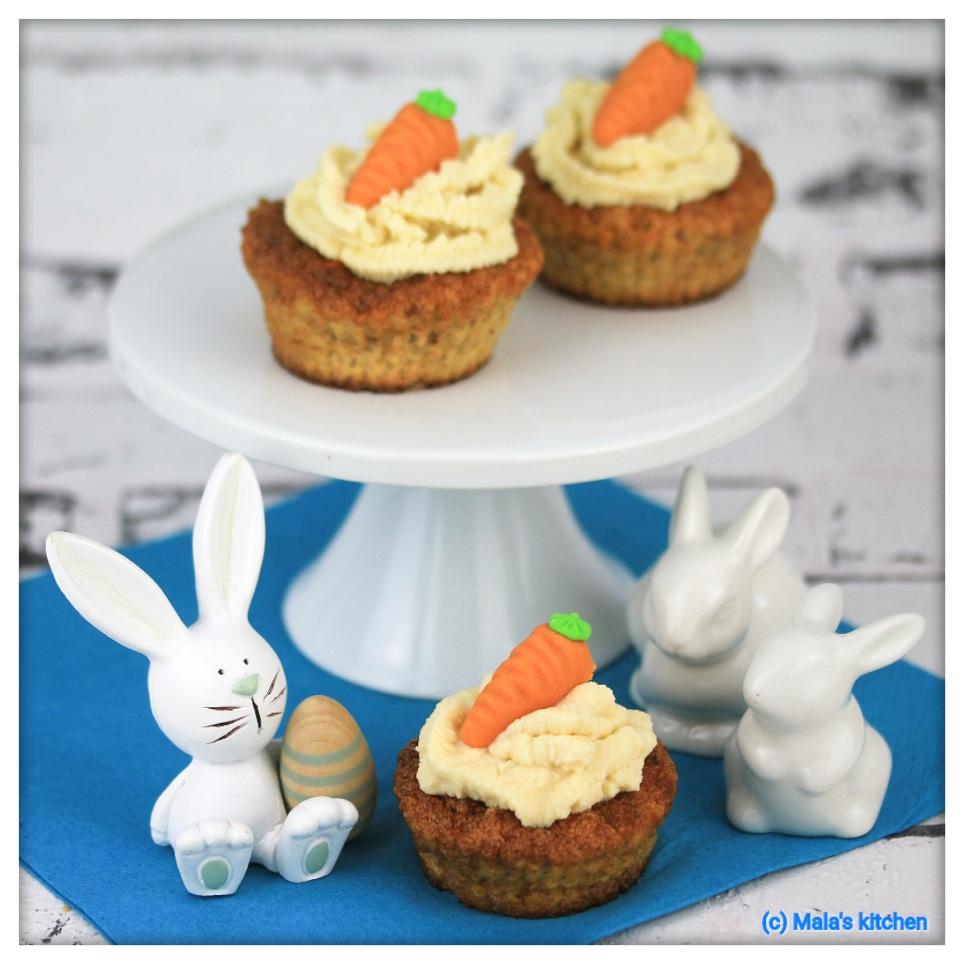 Karotten-Mandel-Cupcakes
