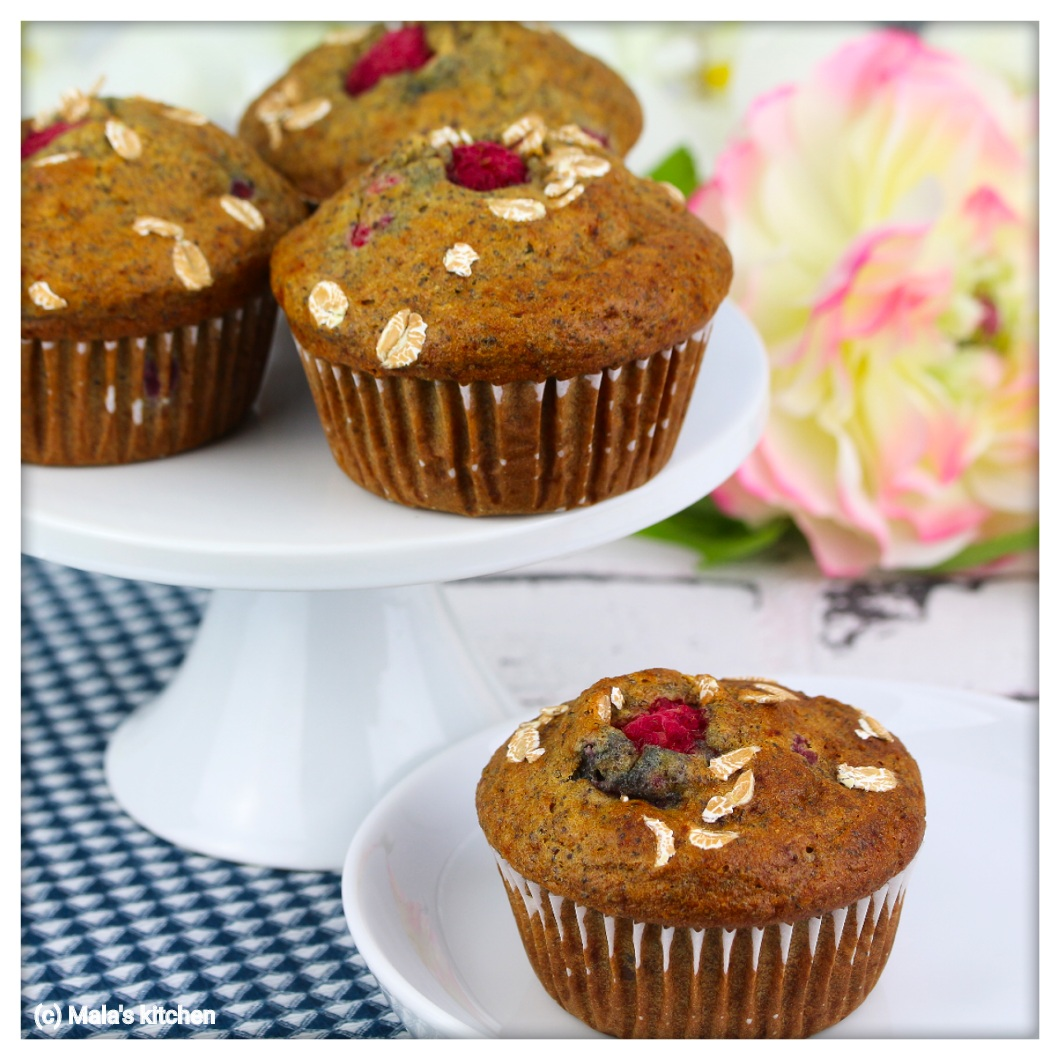 Himbeer-Mohn-Muffins
