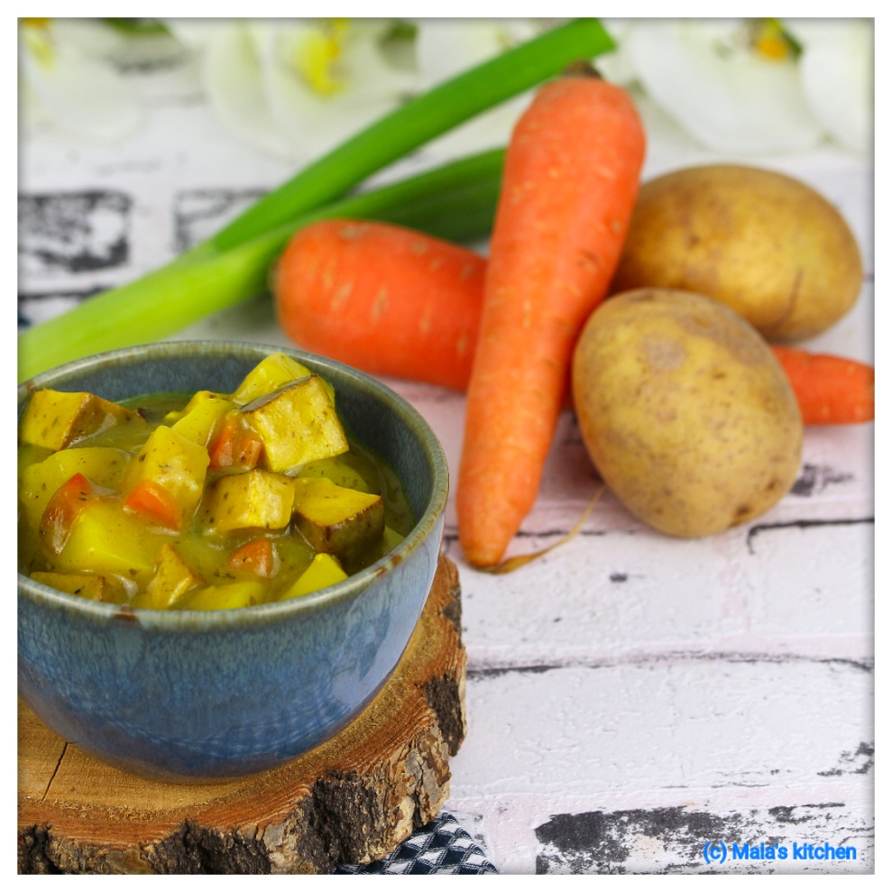 Gemüse-Kartoffel-Curry mit Tofu