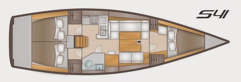 3 Kabinen, 1 WC achtern