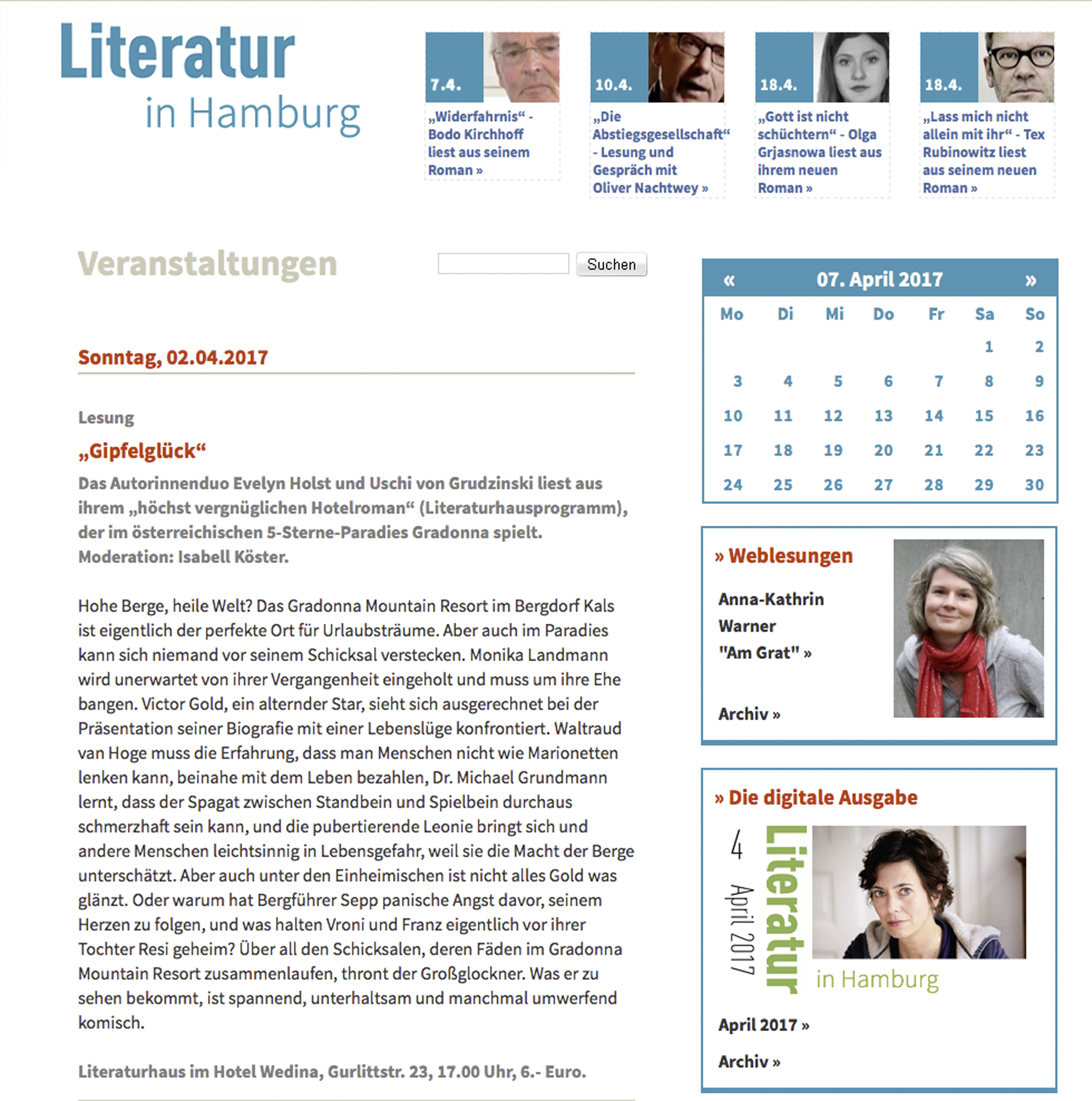 Literatur in Hamburg
