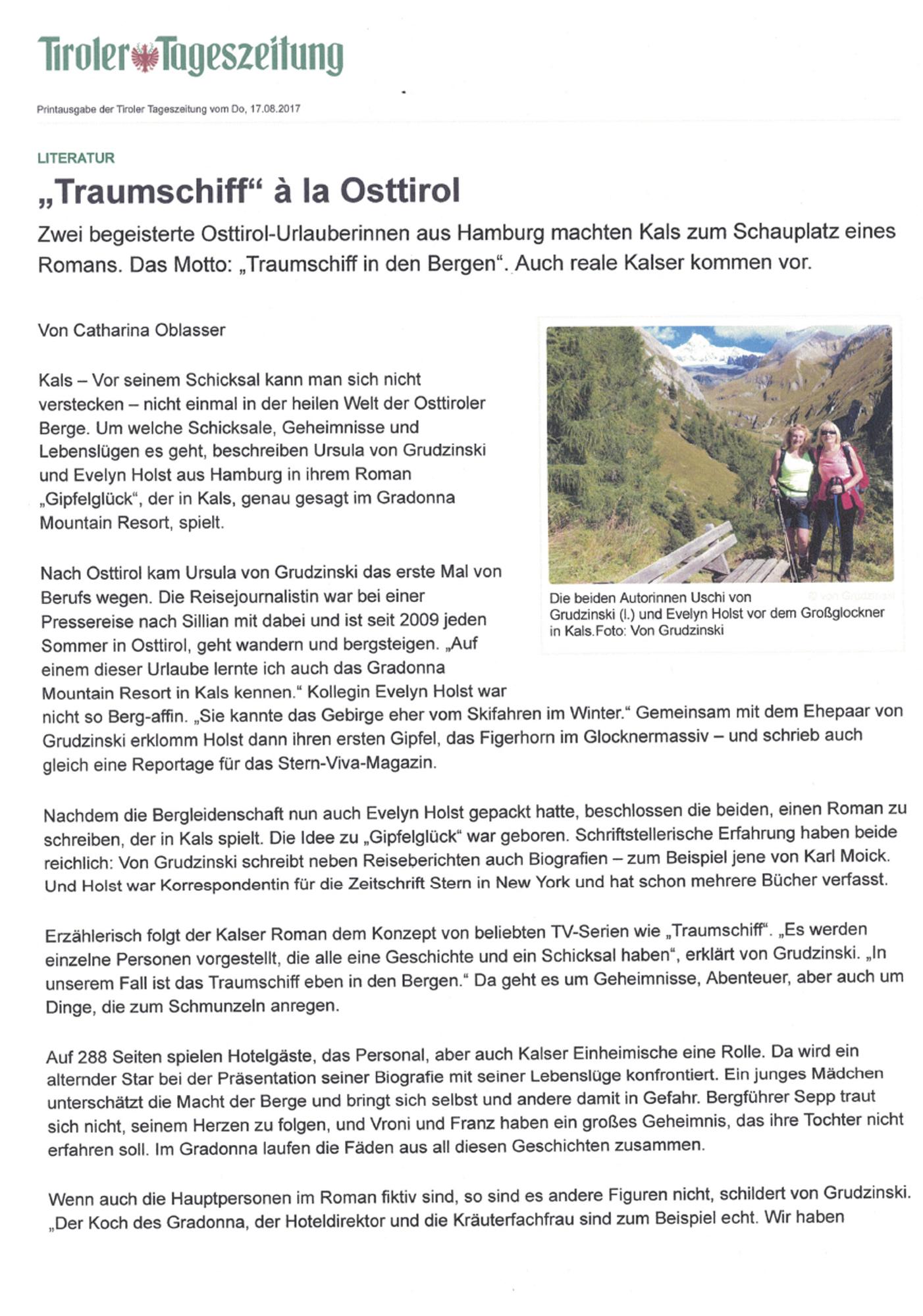 Tiroler Tageszeitung, 17.8.2017