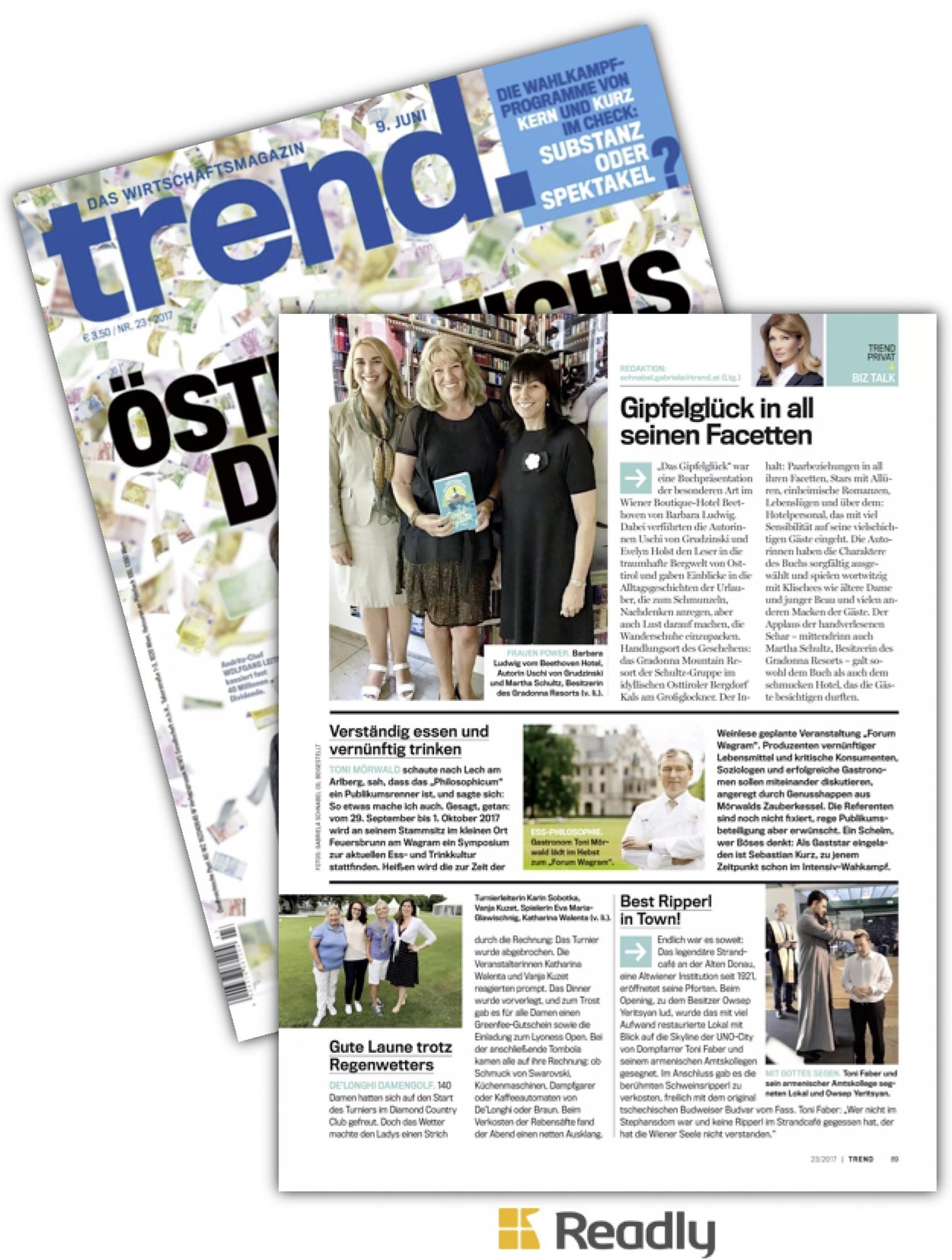 Trend, Wirtschaftsmagazin, 9.6.2017