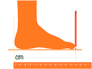 medida pie, como medir el pie, medida plantilla