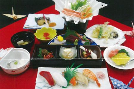 お寿司付き会席