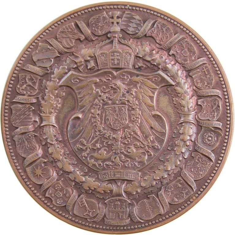 Bronzemedaille Preußen 1891 von Lauer in Nürnberg, Auktionspreis 200 €