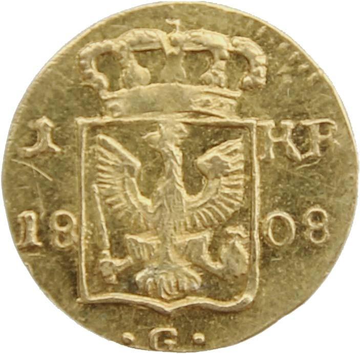 Goldmünze, 1 Kreutzer Glatz 1808, selten, Auktionspreis 12000 Euro