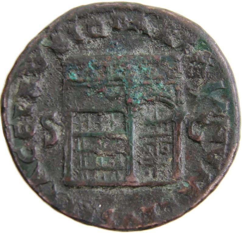 Römische Kupfermünze As, Nero Claudius Caesar, Erlös 150 Euro