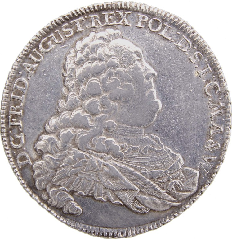 Silbertaler Sachsen 1757, seltener 'Dresdner Ausbeutetaler', Erlös 1900€