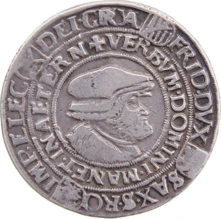 Dicker Guldengroschen Silber, Sachsen 1522, Friedrich der Weise, Erlös 4300 €