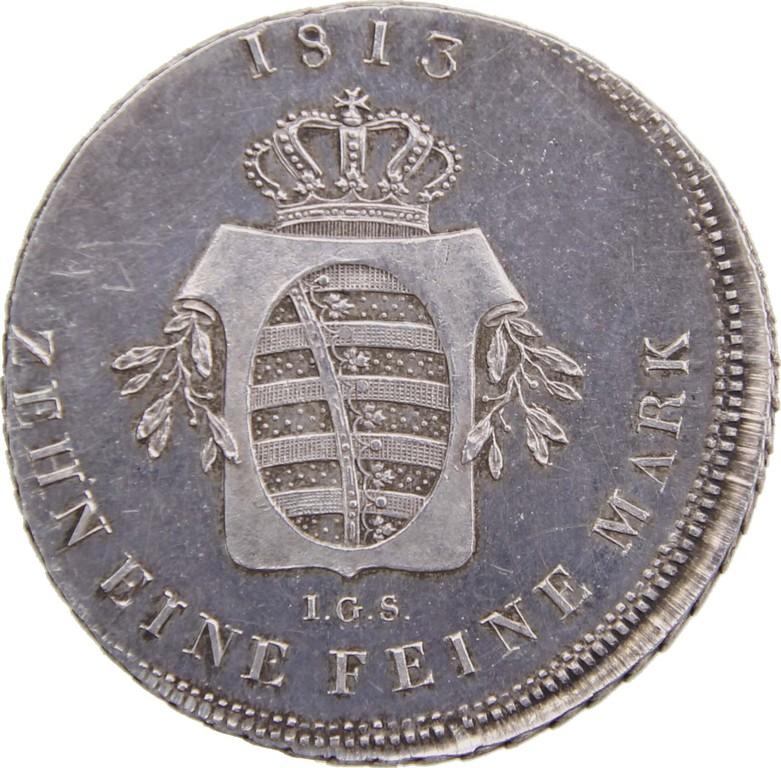 Silbertaler Sachsen 1813, Speziestaler,Unikat,Erlös 6900 Euro