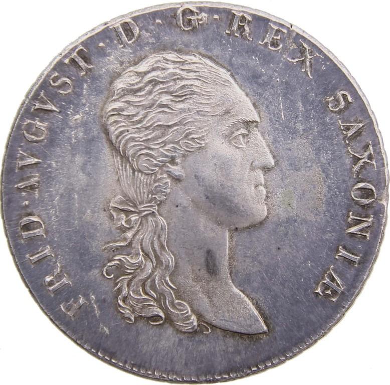 Silbertaler Sachsen 1814, Versuchsprägung,selten,Ergebnis 5900 €