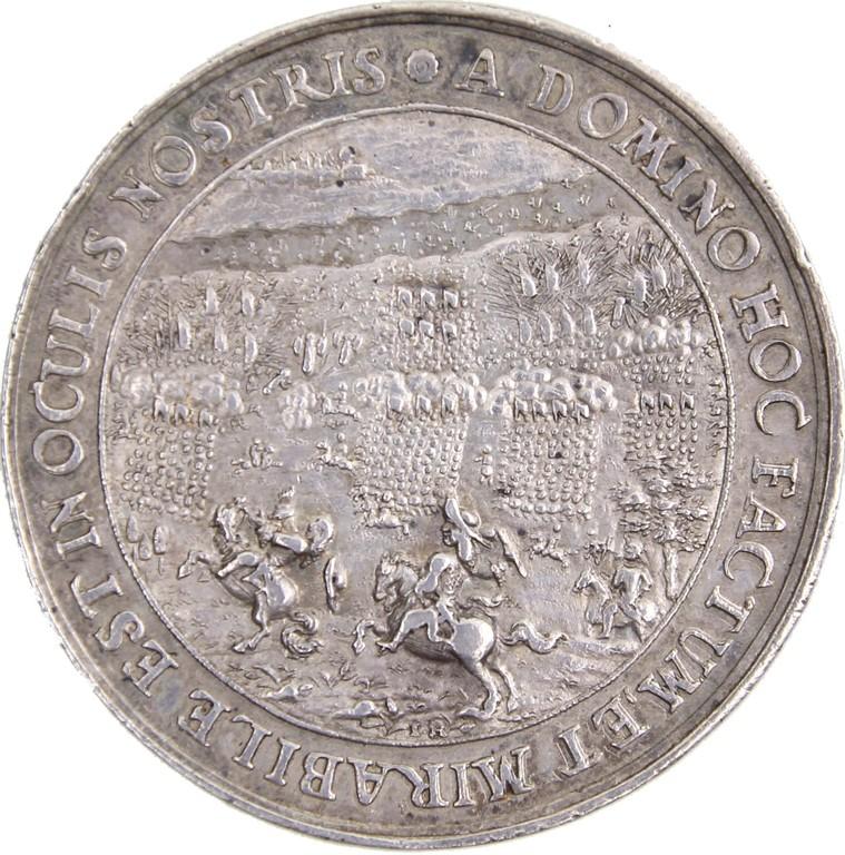 Schautaler Kurfürstentum Brandenburg 1675, Sieg des Kurfürsten über die Schweden bei Fehrbellin, Auktionspreis 2000 €