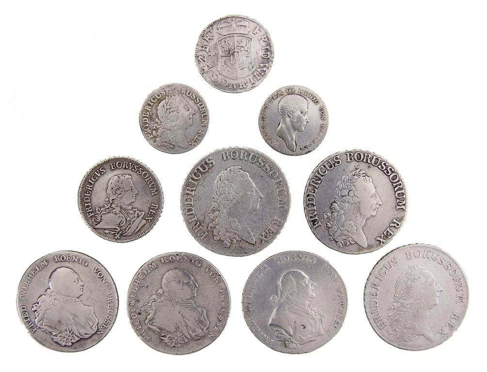 Sammlung Silbermünzen, Sachsen 1685-1812, Auktionspreis 550 €