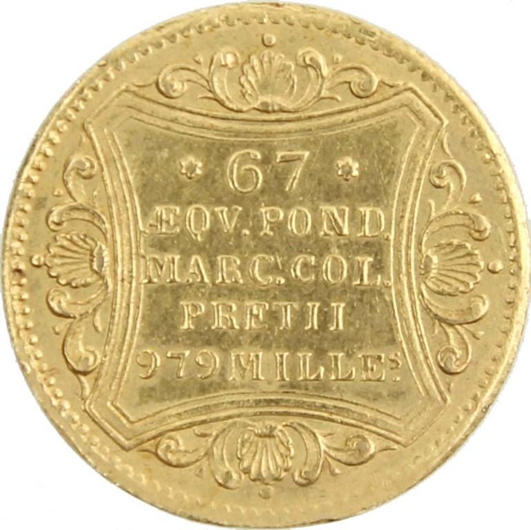 Golddukat Hamburg 1856, Auktionspreis 340 Euro